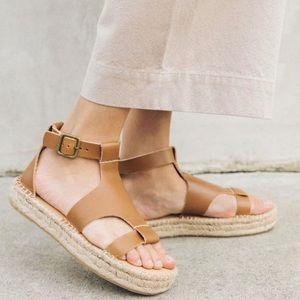 Soludos Banded Shield Espadrilles Leather Sandal
